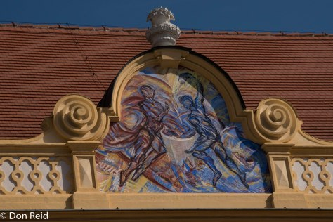 Melk Abbey - modern replacement of bomb damaged facade