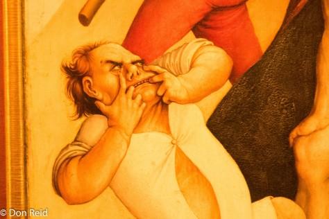 Melk Abbey - strange figure in a painting