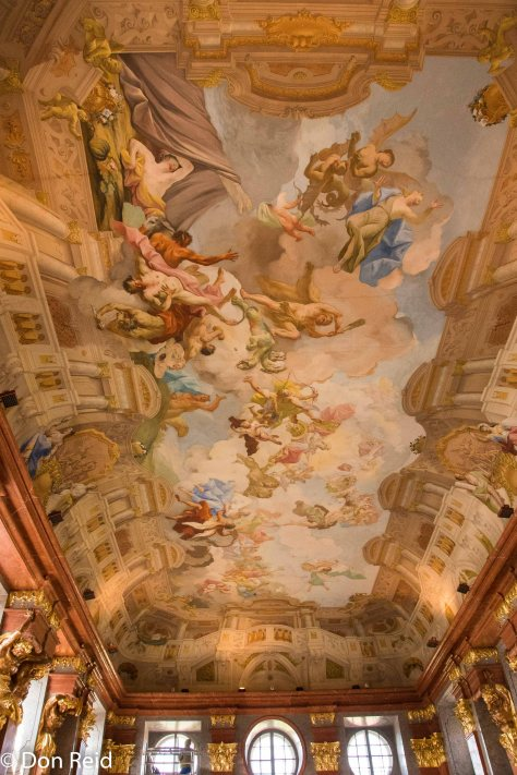 Melk Abbey - one of the highly decorated ceilings