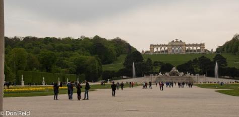 Schonbrunn Palace - view towards the hill