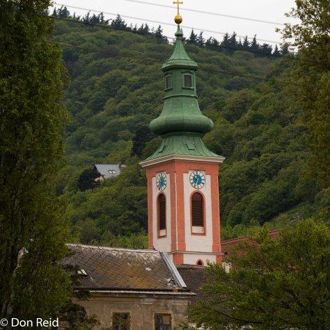 A small church near the river