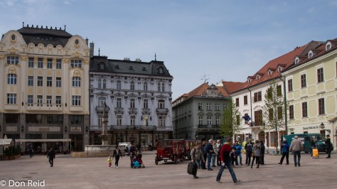 Bratislava old town - the Main Square