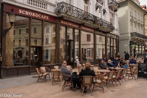 The outside café on the square