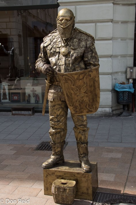 Bratislava old town - living statue
