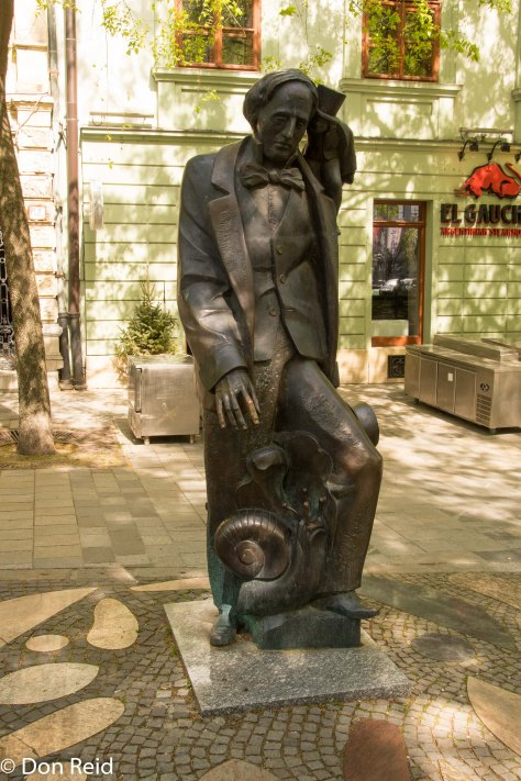 Hans Christian Andersen - well a statue of him actually