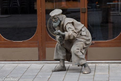 Bratislava old town. Another quirky statue