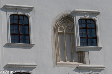 Quirky architecture on the Castle facade