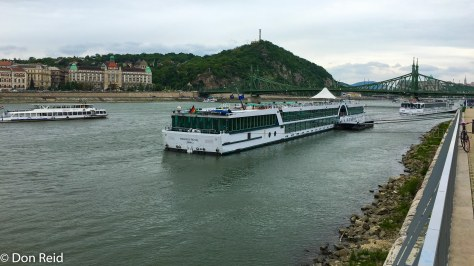 Moored at Budapest