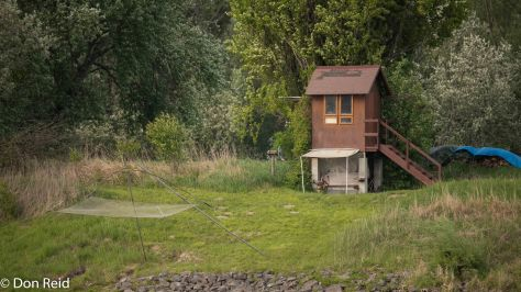 Riverside dwellings with fishing rights