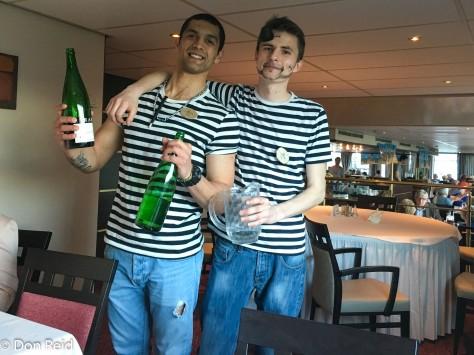 Waiters Zizi and Ivan - Pirates dinner