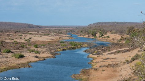 Olifants river from viewpoint, KNP