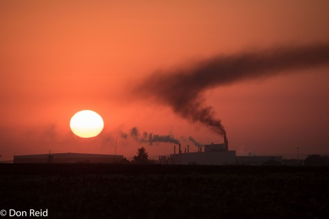 Industrial sunrise, Leandra area
