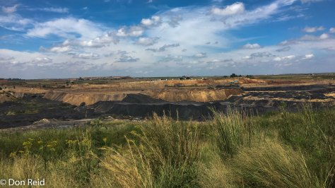 Coal mining area - a depressing sight